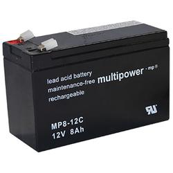 Blei-Akku Multipower MP8-12C, 12 Volt, 8 Ah