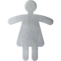 Piktogramm 'WC Damen' Edelstahl