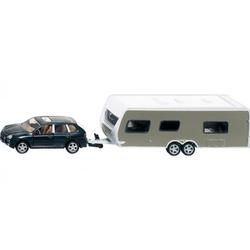 Siku PKW mit Wohnwagen