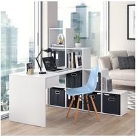 Vicco Schreibtisch EckComputertisch Sarah Treppenregal Raumteiler