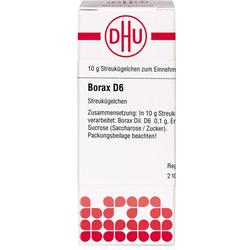 BORAX D 6 Globuli 10 g