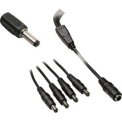 BKL Electronic 072932 Niedervolt-Adapterkabel Niedervolt-Buchse - Niedervolt-Stecker 5.5mm 2.1mm 5.5