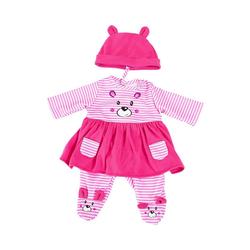Bayer Puppenkleidung Kleider für Puppen 33-38 cm: 3-tlg. - Kleid, Hose,