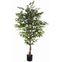 Kunstpflanze Ficus Benjamini Ficus Benjamini, Creativ green, Höhe 120 cm 26 cm x 120 cm