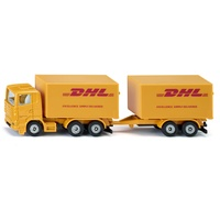 SIKU Spielzeug-Auto SIKU LKW mit Anhänger DHL