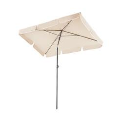 Sonnenschirm 200x125cm - Ampelschirm, Sonnenschutz, Gartenschirm - beige