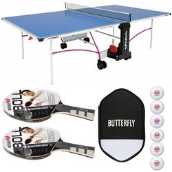 Butterfly Tischtennisplatte Timo Boll Hülle + Bälle