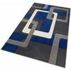 Teppich Maxim, my home, rechteckig, Höhe 13 mm, Hoch-Tief-Effekt blau 60 cm x 90 cm x 13 mm