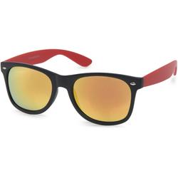 styleBREAKER Sonnenbrille Verspiegelte Nerd Sonnenbrille Verspiegelt schwarz