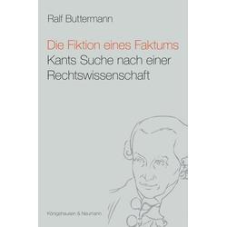 Die Fiktion eines Faktums als Buch von Ralf Buttermann