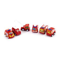 6 Spielzeugautos Mini Spielzeug Autos Feuerwehr Auto Set für Kinder Kleinkinder ab 3 Jahren