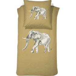 Kinderbettwäsche Boone, damai, mit Elefant braun