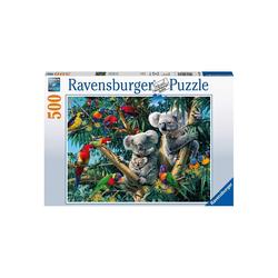 Ravensburger Puzzle Ravensburger - Koalas im Baum, 500 Teile Puzzle, 500 Puzzleteile