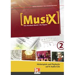 MusiX 2. Audio-CDs. Ausgabe BG (Bayern Gym Lehrplan Plus)
