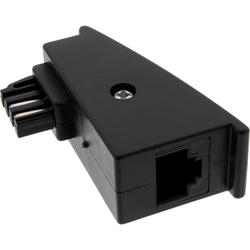 InLine® TAE-F Adapter, TAE-F Stecker auf RJ45 Buchse, 8P2C für Fritzbox