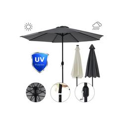 Mucola Sonnenschirm Sonnenschirm Marktschirm Ø3m LED Beleuchtung Strandschirm Gartenschirm UV-Schutz Ampelschirm Sonnenschutz Kurbelschirm Balkonschirm, Premium-Sonnenschirm, LED-Beleuchtung beige