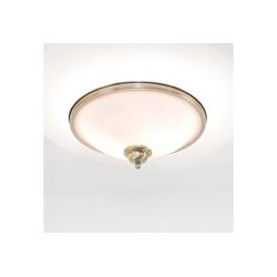 Licht-Erlebnisse Deckenleuchte ELISETT Deckenleuchte Jugendstil rund Bronnze Antik Glasschirm Lampe