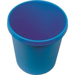 Papierkorb rund 18l blau