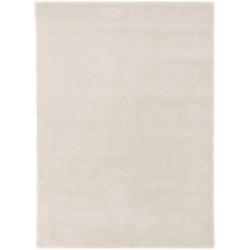 Wollteppich LORIBAFT TEPPSTAR, morgenland, rechteckig, Höhe 15 mm, reine Schurwolle, uni, Wohnzimmer weiß 60 cm x 90 cm x 15 mm