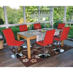 6x Esszimmerstuhl MCW-C41, Stuhl Küchenstuhl, Kunstleder ~ rot