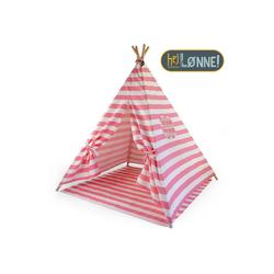 Hej Lønne Tipi-Zelt Tipi Zelt für Kinder rosa gestreift Indianerzelt