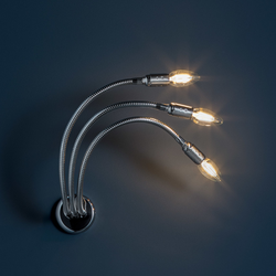 Turciù 5 Wandleuchte - Nickel / 5 x LED