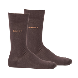 Joop! Kurzsocken Herren Socken 2 Paar, Basic Soft Cotton Sock braun 43-46 (9-11 UK)