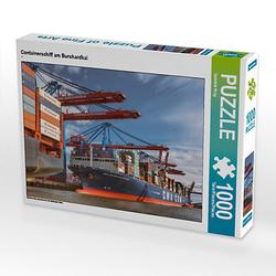 Containerschiff am Burchardkai Lege-Größe 64 x 48 cm Foto-Puzzle Bild von Gabriele Krug Puzzle