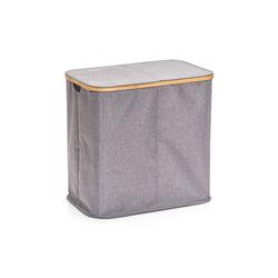 Zeller Wäschesammler in grau, 2-Fächer