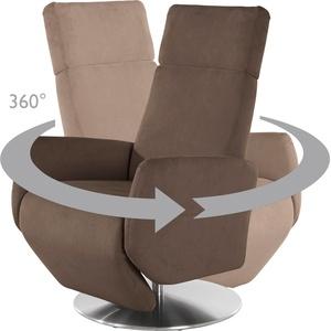 Places of Style TV-Sessel Kobra, Fuß: Drehteller aus Edelstahl, Gasdruckfeder braun Relaxsessel Sessel