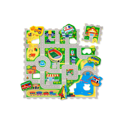 Hakuna Matte Puzzlematte City, 16 Puzzleteile