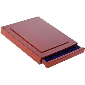 SAFE 6841 Echholz Münzbox Nova Exquisite 20 x 41 mm - mit eckigen Fächern - ideal für Münzen bis 41 mm und Münzkapseln bis 35 mm (Abmessungen 255x205x28 mm))