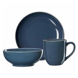 Ritzenhoff & Breker Frühstücks-Geschirrset Linus Blau (3-tlg), Steinzeug blau