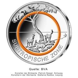 5 Euro-Sammlermünze 2018 Subtropische Zone