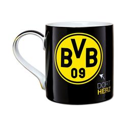 Borussia Dortmund Tasse BVB-Tasse-Dortmund schwarz