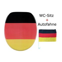 WC-Sitz Deutschland + Autofahne