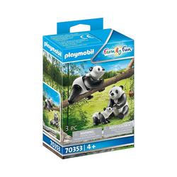 Playmobil® Spielfigur PLAYMOBIL® 70353 2 Pandas mit Baby