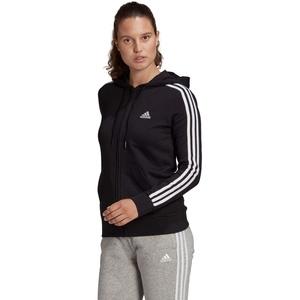 Adidas Damen Kapuzenjacke/Hoodie W 3S FT FZ HD - black/white