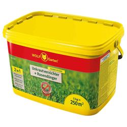 Wolf-Garten Unkrautvernichter + Rasendünger 5 kg SQ 250 Eimer (1 Stk.)