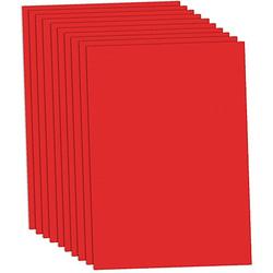 Tonzeichenpapier, rot, 50 x 70 cm, 10 Blatt