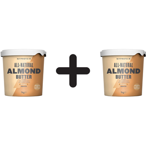 (2000 g, 21,81 EUR/1Kg) 2 x (Myprotein Natural Almond Butter (1000g) Smooth)