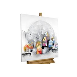 KUNSTLOFT Gemälde Kindheitserinnerung, handgemaltes Bild auf Leinwand
