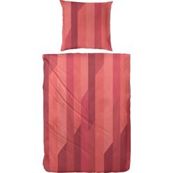 Bettwäsche Anton, Primera, mit Streifen rot 1 St. x 135 cm x 200 cm