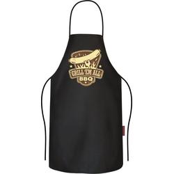Rahmenlos Grillschürze mit coolem Front-Print Grill Em All BBQ bunt