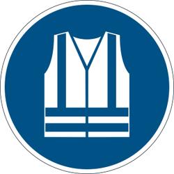 DURABLE Warnweste benutzen Sicherheitszeichen, Sicherheitsschild zur Kennzeichnung von Gefahrenbereichen, 1 Stück