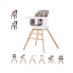 Chipolino Hochstuhl Hochstuhl 2 in 1 Rotto, Kinderstuhl, drehbarer Sitz, Höhe verstellbar braun