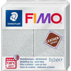 FIMO Modelliermasse Fimo Leder-Effect, 57 g grau