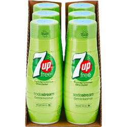Sodastream Sirup 7up free 0,44 Liter, 6er Pack