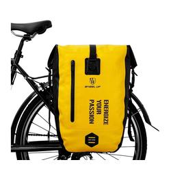 WHEEL UP Fahrradtasche Pack- Gepäckträgertasche Fahrradtasche 100% Wasserdicht 20/27L, gelb