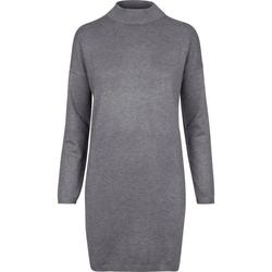 URBAN CLASSICS Sommerkleid Oversized Turtleneck Dress mit Turtleneck Ausschnitt grau M